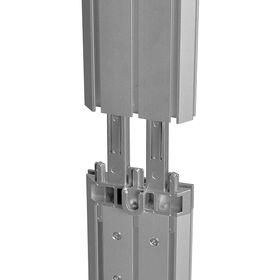 conectori verticali caseta luminoasa portabila aluminiu